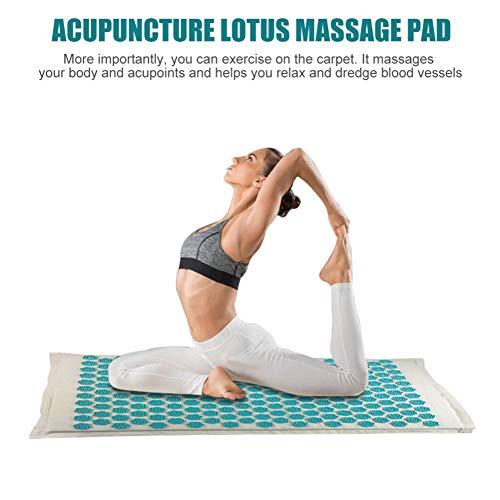 QIYU Akupressurmatte, Massagekissen für Yoga, Akupressur-Set, Schmerzen im Rücken und Nacken – Entspannung der Muskulatur, Help Sciatica, Triggers Point Acupuncture