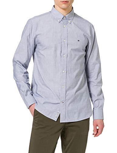 Tommy Hilfiger Natural Soft Poplin Shirt Camisa, Carbono Azul Marino, XL para Hombre