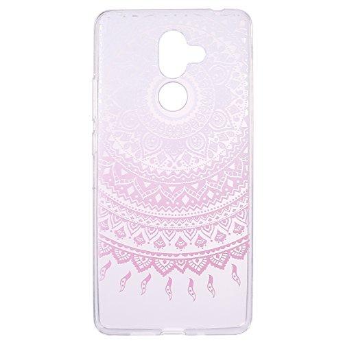 Felfy Custodia Compatibile con Nokia 7 Plus Cover Trasparente con Disegni,Bling Custodia Ultra Sottile Morbido Crystal Clear Flessibile Slim Silicone TPU Antiurto AntiGraffio Cover-Mandala