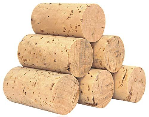 Korken 100 Stück NEU Natur Dunkel Bastelkorken-Weinkorken-Flaschenkorken-Sektkorken - zum basteln Bastelzubehör für Kinder und Erwachsene DIY Made in EU
