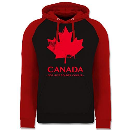 Shirtracer Länder - Canada Vintage Not just Colder Cooler - XXL - Schwarz/Rot - Kanada Geschenke - JH009 - Baseball Hoodie