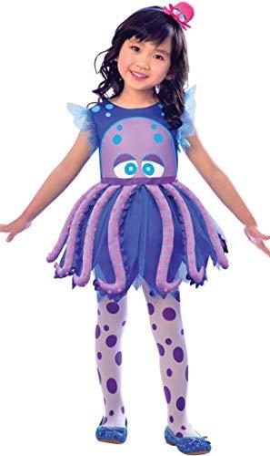 LIRAGRAM ESPAÑA, S.L.L. Disfraz de Pulpo Vestido para niña T1 (2/3A)