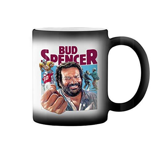 Bud Spencer Football Bulldozer Vintage Black Magic Kaffeetasse Mug