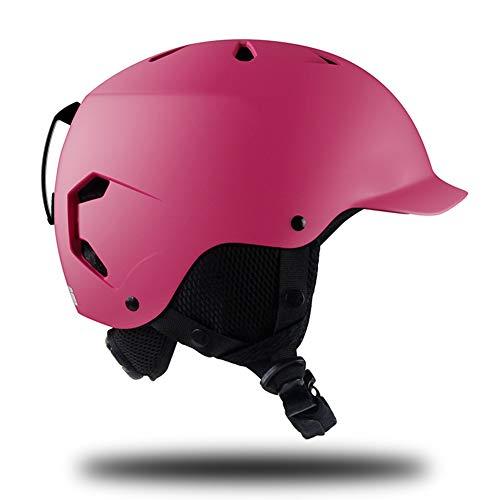 Massage-AED Casco de Esquí Hombre, Casco de Snowboard Mujer Tamaño Ajustable para Adulto Adolescente con Forro y Orejeras Extraíbles para Ciclismo, Patinaje, Patineta
