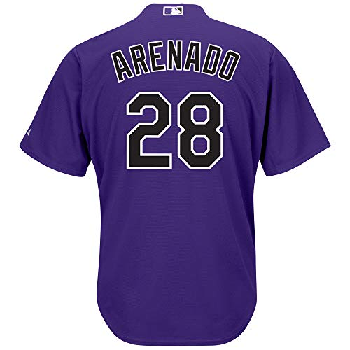 Nolan Arenado Colorado Rockies Purple Youth Cool Base Alternate Replica Jersey (Small 8)