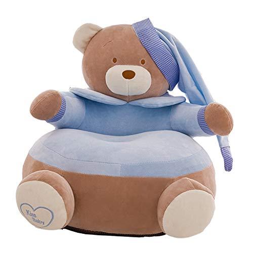 Cute & Bequeme Kinder Sessel Cover Kinder Kleinkind Sitzsack - Bär -Blau (Bär -Blau)