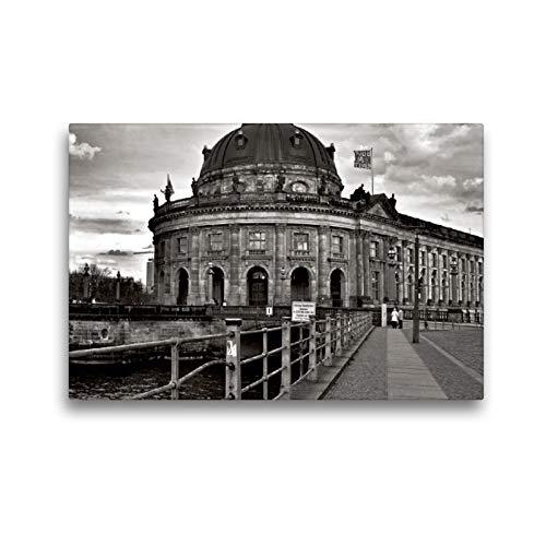 CALVENDO Premium Textil-Leinwand 45 x 30 cm Quer-Format Bode-Museum auf der Museumsinsel in Berlin - UNESCO, Leinwanddruck von Silva Wischeropp