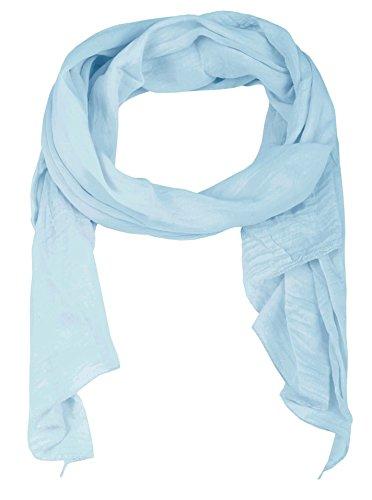 Zwillingsherz Seiden-Tuch für Damen Mädchen Uni Elegantes Accessoire/Baumwolle/Seiden-Schal/Halstuch/Schulter-Tuch oder Umschlagstuch einsetzbar - hbl