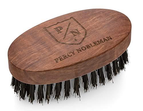 Spazzola per barba vegan - Pennello in legno di pero austriaco, oliato, spazzola 100% vegano per uomo di Percy Nobleman