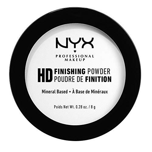 NYX Professional Makeup Finishing Powder High Definition, Polvere Compatta, Finish Matte, Riduce le Zone Lucide, Translucent, Confezione da 1