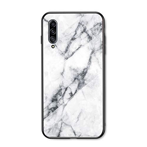 PANXIYUE Funda para Samsung Galaxy A30S / A50 / A50S,Carcasas de Vidrio mármol Funda,con Marco de Silicona Suave de TPU para Samsung Galaxy A30S / A50 / A50S
