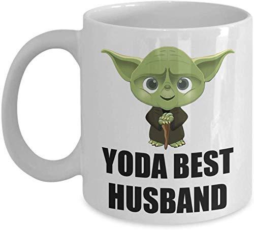 N\A Regalo de cumpleaños del Mejor Esposo de Yoda - Regalos de coleccionistas de Yoda para fanáticos de Recuerdos de Star Wars - Taza de café Divertida de Navidad para la Familia