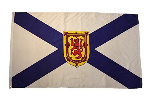 NOVA SCOTIA NS PROVINCIAL 3 X 5 FEET LARGE FLAG BANNER ... (92 CM X 152 CM) CANADIAN PROVINCE .. NEW