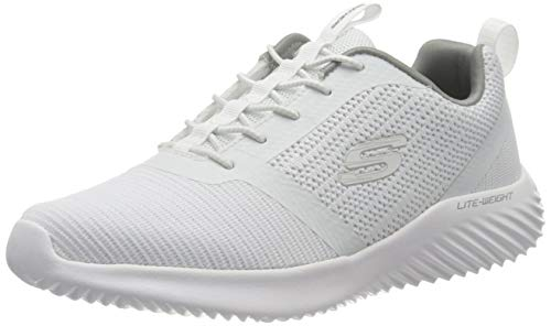 Skechers Men's Bounder Trainers, White (White Wht), 10 UK (45 EU)