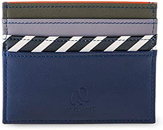 mywalit Men's Double Sided Credit Card Holder Blue