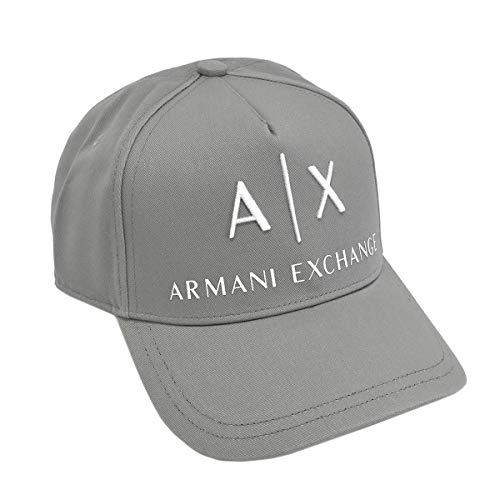 アルマーニ エクスチェンジ ARMANI EXCHANGE 帽子 キャップ メンズ ロゴ コットン ライトグレー 954039 CORP LOGO HAT FROST GRAY/WHITE CC513 [並行輸入品]