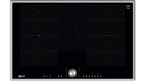 NEFF T68BT6QN2 Induktionskochfeld N70 / 80 cm / Autarkes Kochfeld / TwistPad / FlexInduktion / Induktion / PowerMove / PowerTransfer / Home Connect / Glaskeramik / Edelstahlrahmen