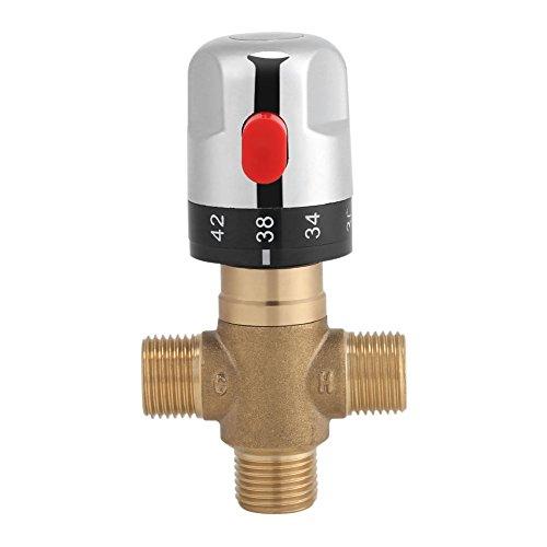 Armatur Thermostat Messing, 15 mm Waschbeckenarmatur Feste Temperatur für Küche Badezimmer G1/2 35-45 °C