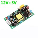 Electronic Accessories 12V1.2A 5V500mA Dual Output Constant Voltage Power Supply Board with EMI Filter Built-in Isolation Constant Voltage Regulator Bare Board (Size : 12V5V)