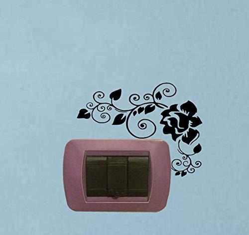 Pegatina de pared para decoración del hogar, 2 unidades, color negro