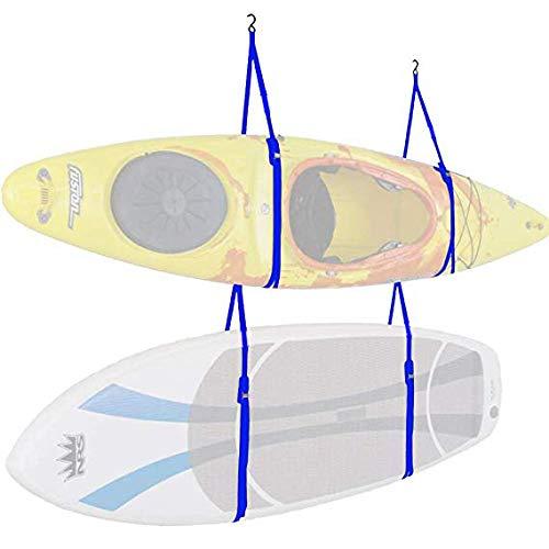 atliprime Indoor Kayak Storage Kayak Straps Storage System-Hang Two pack