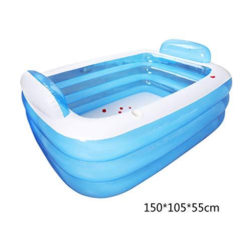 Congchuaty piscina inflable de tres capas para el hogar, resistente al desgaste del bebé medium 1