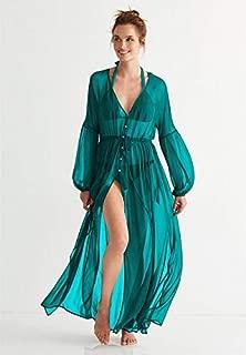 BEESCLOVER Swimsuit Cover Up Tunics for Beach Swim Suit Woman Wear Bikini Single Dress Skirt Clothes Shirt Solid