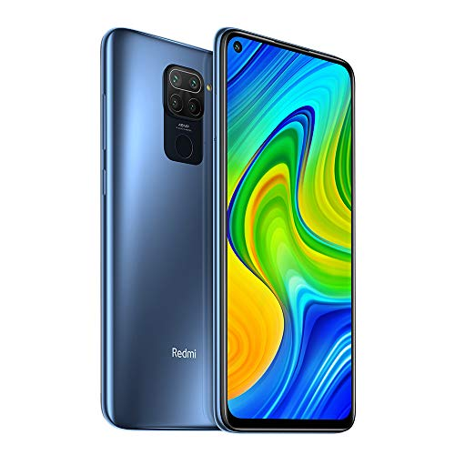 "Xiaomi Redmi Note 9 4GB 128GB Smartphone 48MP Quad Camera MTK Helio G85 Octa core 6.53""FHD Telefono cellulare (Grey)"