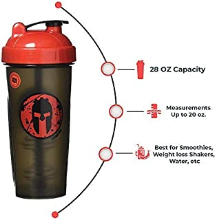 PerfectShaker Performa - Spartan Shaker Bottle, Best Leak Free Bottle with Actionrod Mixing Technology for Your Sports & Fitness Needs! Dishwasher and Shatter Proof (28/20oz)
