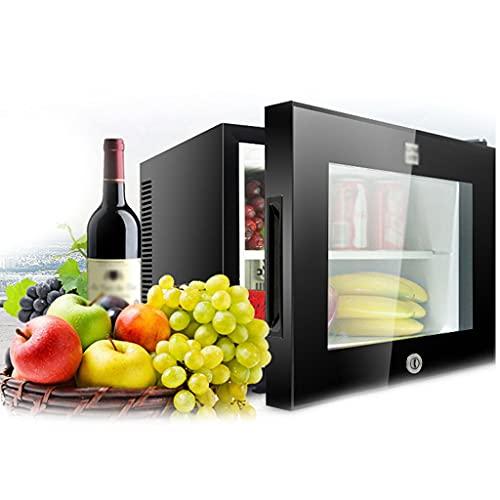 SHENXINCI 20L Minibar, Refrigeración De Semiconductores Nevera para Bebidas, Refrigerador, Silencioso, Puerta De Cristal, con Cerradura De Seguridad,Rango De Temperatura: 8~15 ℃,Estante Desmontable