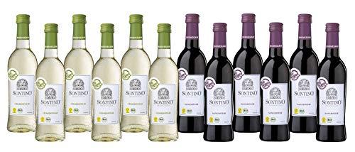 """Sontino """"Viva Italia"""" BioVegan Weinset (12 x 0,25L) Halbtrocken - Rotwein und Weißwein aus Italien"""