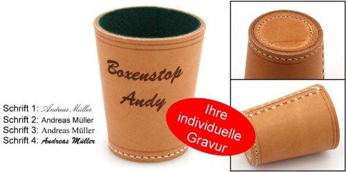 Ludomax Würfelbecher Exclusiv, Premium Made in Germany mit Gravur, Geschenk Idee
