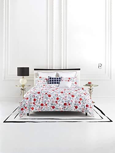 Kate Spade New York Blossom Duvet Cover Set, King, White/Red/Pink