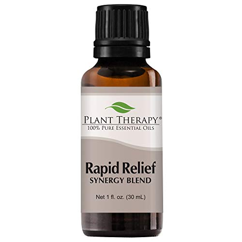 Plant Therapy Essential Oil Rapid Relief Synergy - Pain and Soreness Blend 100% Pure, Undiluted, Natural Aromatherapy, Therapeutic Grade 30 milliliter (1 ounce)