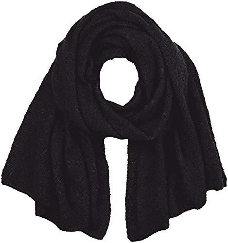 Vila CLOTHES Damen VITOBI KNIT SCARF-NOOS Schal, Schwarz (Black Black), One Size (Herstellergröße: ONESZ)