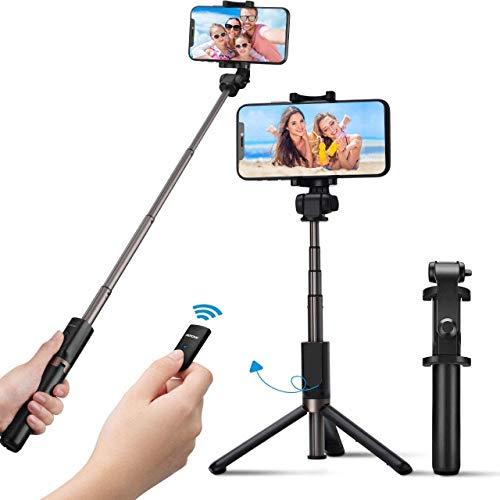 Bastone Selfie Estensibile 31,9 Pollici Selfie Stick Monopiede con Telecomando