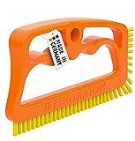 Fuginator Cepillo para Juntas Naranja/Amarillo– Limpieza de junturas en el baño, la Cocina y el hogar – Elimina el Moho superficialmente