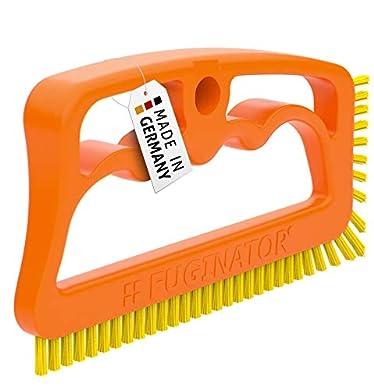 Foto di Fuginator® Spazzola per Fessure, fughe, Giunti - Arancione/Gialla – Universale per Bagno, Cucina e casa