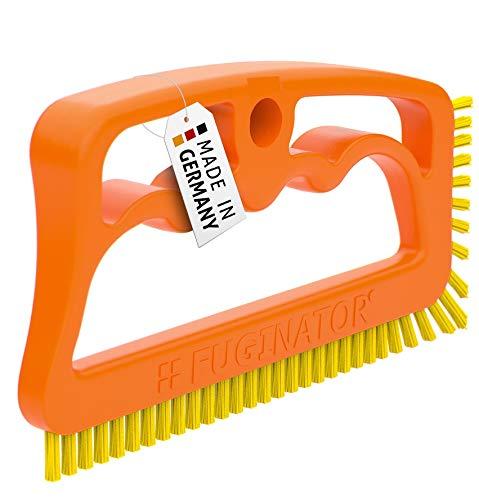 Fuginator® Spazzola per Fessure, fughe, Giunti - Arancione/Gialla – Universale per Bagno, Cucina e casa