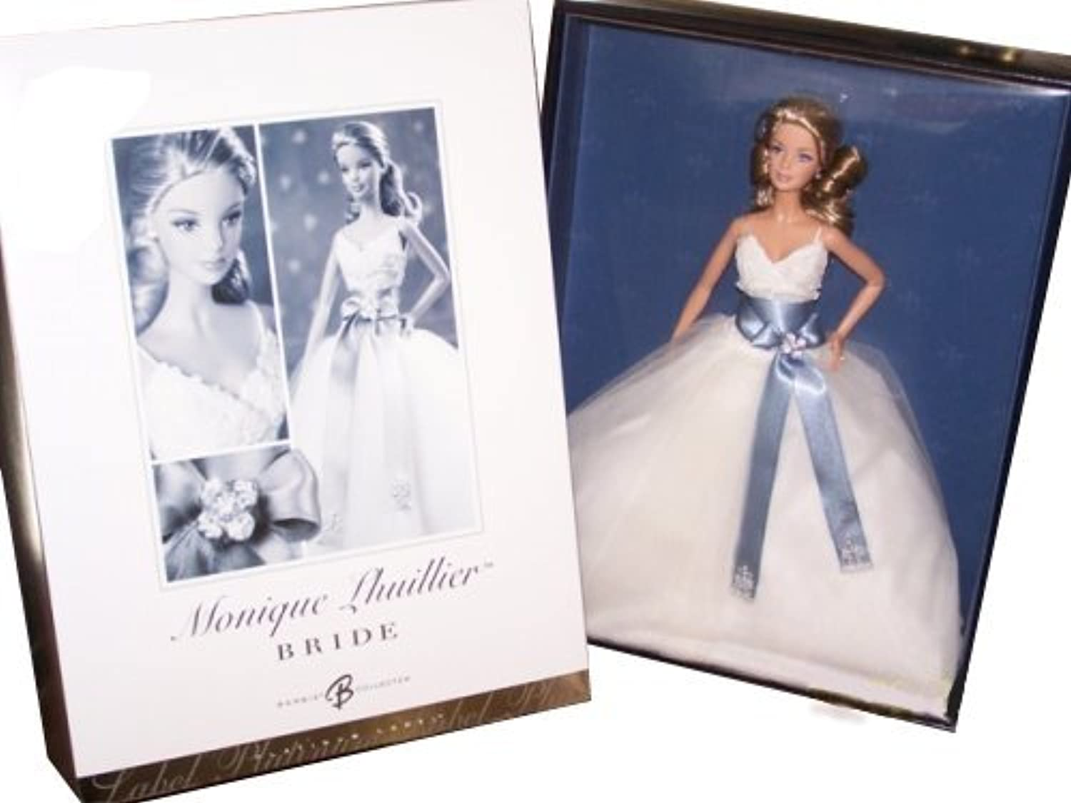 Barbie Collector   J0975 Monique Lhullier Bride 999 St, weltweit Platin Label