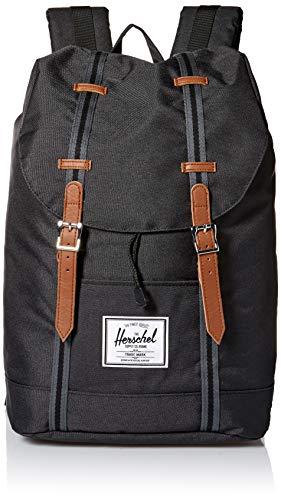 Herschel Unisex-Erwachsene Retreat Multipurpose Backpack, Schwarz/Schwarz/Hellbraun,...