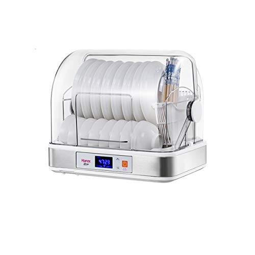 JUY Máquina de desinfección de encimera, máquina de desinfección de una Capa con Programa de Drenaje y Sistema de Secado, gabinete de desinfección de Utensilios de Cocina (Blanco)