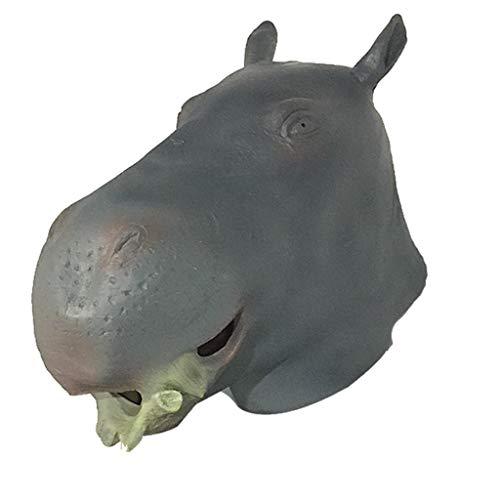 LYLLB-festival items Latex Nilpferd Maske Haube Halloween Party Kostüm Dekorative Maske