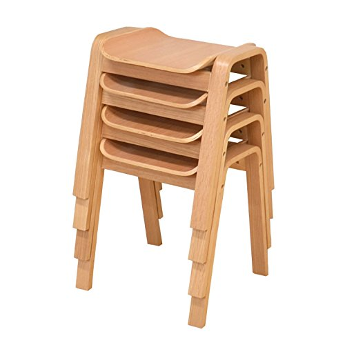 スタッキングスツール ナチュラルオーク色 4脚セット hp14marut360-ok4 北欧風 木製 玄関椅子 すっきり収納