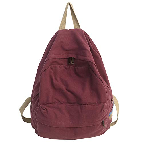 BKPPBi1lkin Rucksack für Damen, Unisex, Schule, große Kapazität, Reiserucksack (Farbe: Rot, Größe: 29 cm x 15 cm x 40 cm)