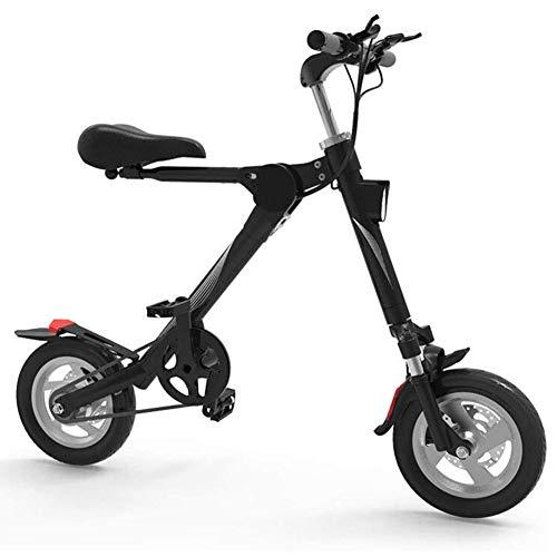 RXRENXIA Scooter Eléctrico, Mini Marco Plegable del Coche Eléctrico Adulto Vespa Aleación De Aluminio De La Velocidad Máxima De 18 Km/H para Adultos Mini Coche Eléctrico