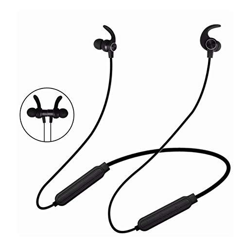 Hoofdtelefoon Bluetooth 4.2 abstract magnetisch stereo in-ear headset draadloos blauw, kleur: bruin