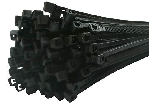 Fix&Easy Kabelbinders 3,6x300mm zwart 25 stuks set voor tuin Computer auto fiets hek PC rieten mat inkijkbescherming hek schaduwnet tuin