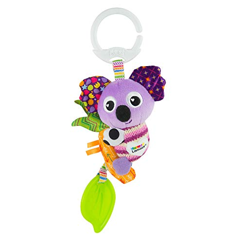 LAMAZE Mini Clip and Go Koala Baby Toy Clip On Baby Cochecito de bebé Juguete y Cochecito de bebé, Juguete sensorial para bebés niños y niñas de 0 a 6 Meses
