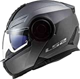 LS2, Casco modular de moto, Scope nardo gris, M
